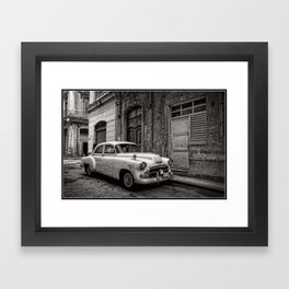 Old Chevy in Cuba Framed Art Print