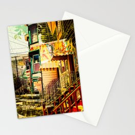 The Victorians' life in the Mission district - San Francisco Stationery Cards
