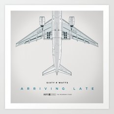 Arriving Late Art Print