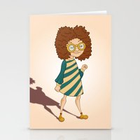 ginger Stationery Cards featuring Ginger by Zeynep Aktaş