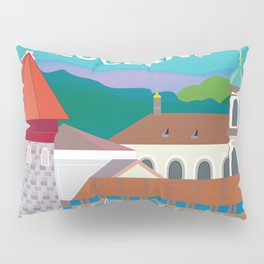 Lucerne, Switzerland - Skyline Illustration by Loose Petals Pillow Sham