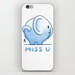 blue elephant iPhone Skin