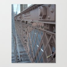 Brooklyn Bridge, New York City, Structural Architecture Canvas Print