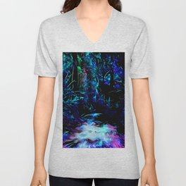 Blacklight Dreams of the Forest Unisex V-Neck