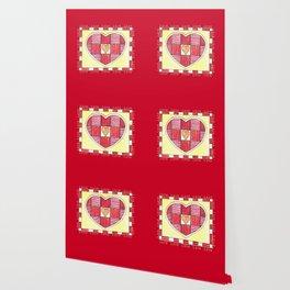 Pinstripe Heart Wallpaper