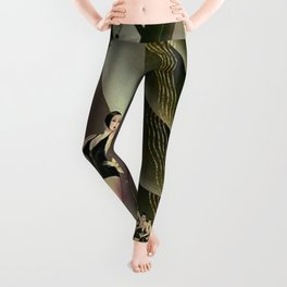 'We Came Here to Shine' - Billy Rose's Acquacade Art Deco 1920's Theatrical Portrait Leggings