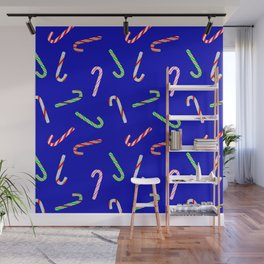 Christmas and Hanukkah Holiday Candy Cane Colorful Pattern Wall Mural