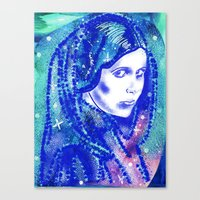 princess leia Canvas Prints featuring Princess Leia by grapeloverarts