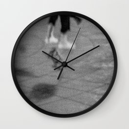 Jumping with Skateboard on the Street, D Wall Clock