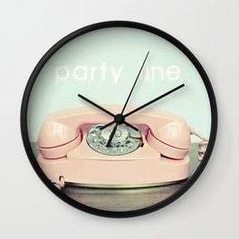 Party Line Wall Clock