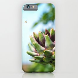 Artichoke and Hoverfly iPhone Case