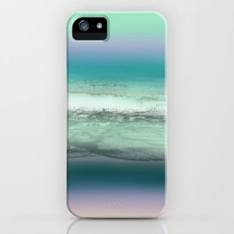 Twilight Sea in Shades of Green and Lavender iPhone Case