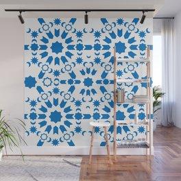 Blue Arabesque Wall Mural