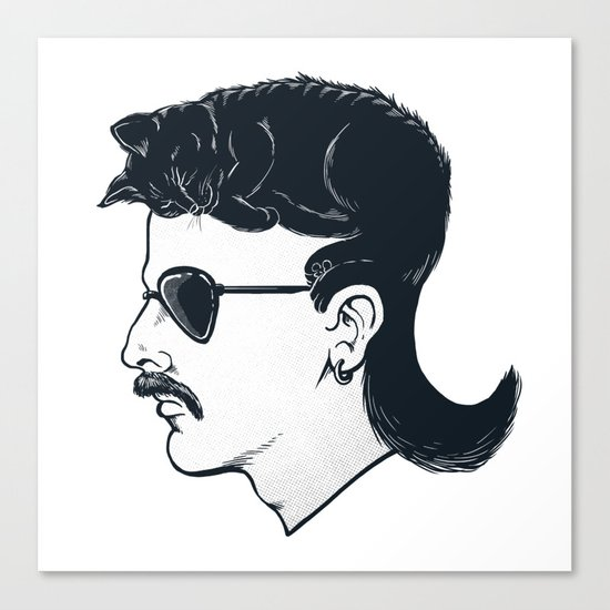 The Mullet Canvas Print