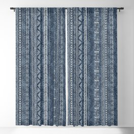 Mud Cloth Stripe Blackout Curtain