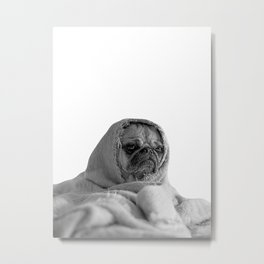 forever mood - pug in a blanket Metal Print