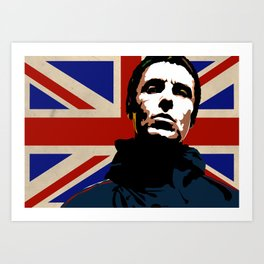 LIAM GALLAGHER Art Print