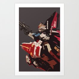 Gundam Aile Strike Digital Painting Art Print