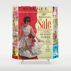 1963 - 98th Anniversary Sale -  Summer Catalog Cover Shower Curtain