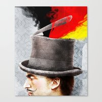 german Canvas Prints featuring German by Francesca Cosanti