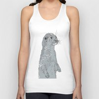 otter Tank Tops featuring Otter by caseysplace