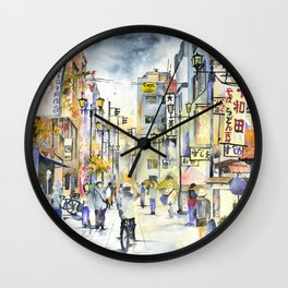 Asakusa street in Japan Wall Clock