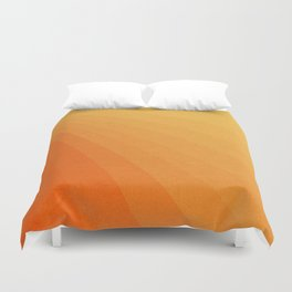 Shades of Sun - Line Gradient Pattern between Light Orange and Pale Orange Duvet Cover
