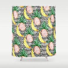Pineapple and Banana Shower Curtain