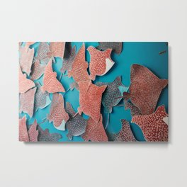 Stingray Swarm Metal Print