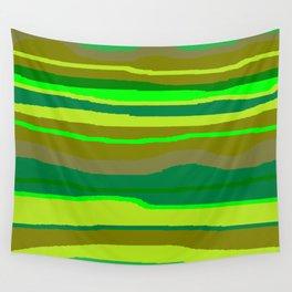 Green Multi Brush Strokes Wall Tapestry