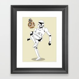 Droid Soccer Framed Art Print