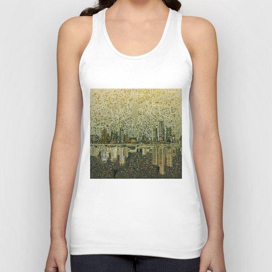 detroit city skyline Unisex Tank Top