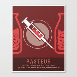 Science Posters - Louis Pasteur - Biologist, Microbiologist, Chemist Canvas Print