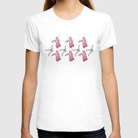 sticker T-shirts featuring sticker monster pattern 7 by freshinkstain