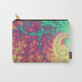 Colorful Quilt Fractal Carry-All Pouch