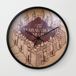 The Marauders Map Wall Clock