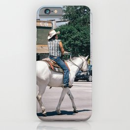 Horse Riding on South Congress Ave iPhone Case