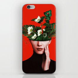 Lady Flowers Xl iPhone Skin