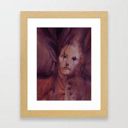 Pierrot the Sad Clown Framed Art Print