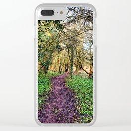 Muddy Walk in Shropshire Woods Clear iPhone Case
