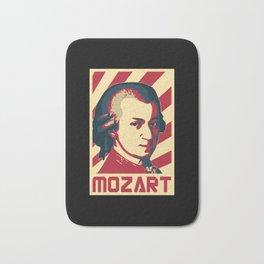 Wolfgang Amadeus Mozart Retro Propaganda Bath Mat
