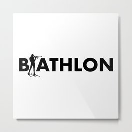 Biathlon Metal Print