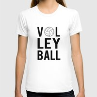 volleyball T-shirts featuring Volleyball (black) by raineon