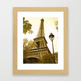 Eiffel Tower in Paris, France Framed Art Print
