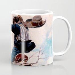 """Vintage Western Painting """"Bucking"""" by N C Wyeth Coffee Mug"""