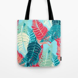 Leave Me Layered (Aqua Red) Tote Bag