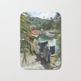 Scooter by the Sea Bath Mat