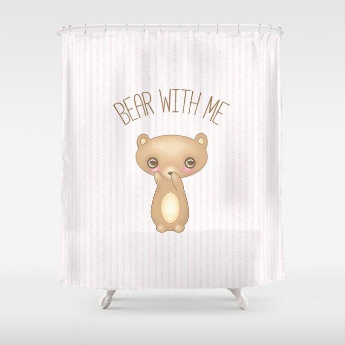 Bear With Me - Creepy Cute Teddy Shower Curtain