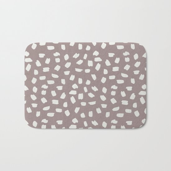 Simply Ink Splotch Lunar Gray on Red Earth Bath Mat