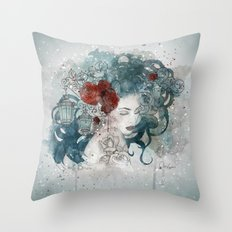 Blossom lights Throw Pillow